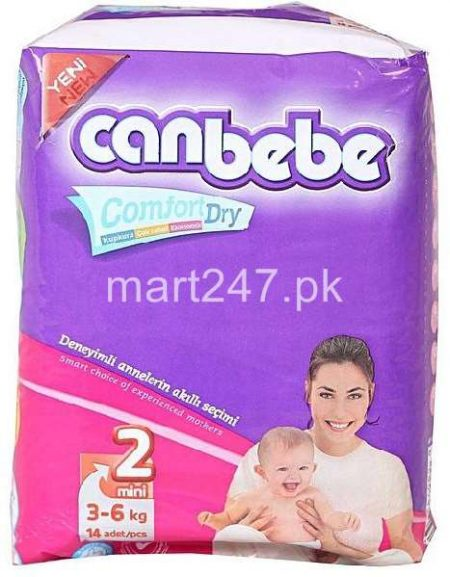 Canbebe Baby Diaperss Mini Size 2 (14 Pcs)