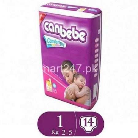 Canbebe Baby Diaperss New Born Size 1 (14 Pcs)