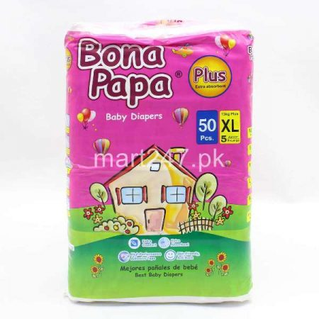 Bona Papa Diaperss Size Extra Large (50 Pcs)