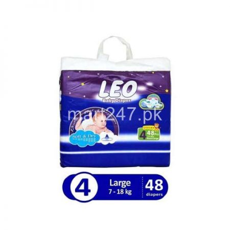 Leo Baby Diaperss Soft & Dry Size 4 (48 Pcs)