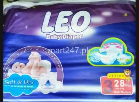 Leo Baby Diaperss Soft & Dry Size 3 (28 Pcs)