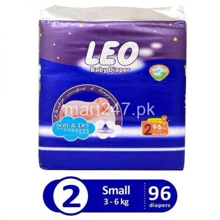 Leo Baby Diaperss Soft & Dry Size 2 (96 Pcs)