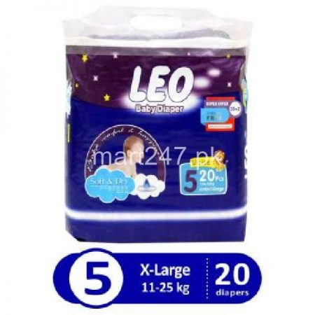 Leo Baby Diaperss Soft & Dry Size 5 (20 Pcs)