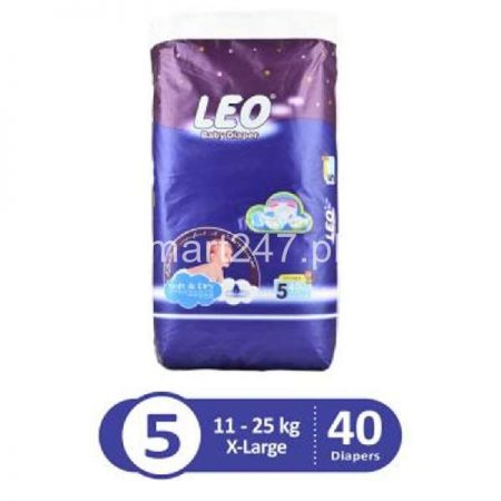 Leo Baby Diaperss Soft & Dry Size Extra Large (40 Pcs)