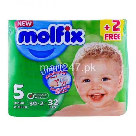 Molfix Baby Diaperss Junior Size 5 30 Pcs