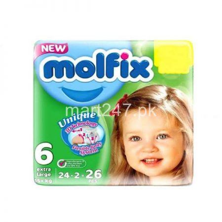 Molfix Baby Diaperss Extra Large Size 6 24 Pcs