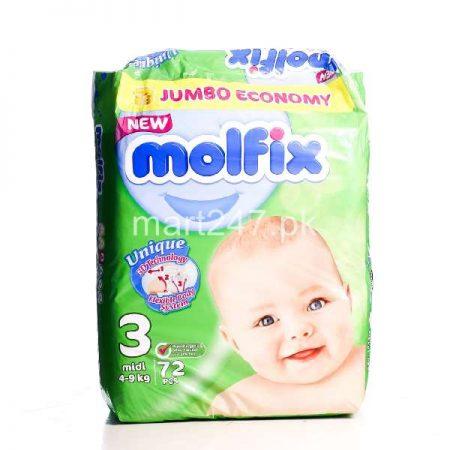 Molfix Baby Diaperss Midi Size 3 72 Pcs