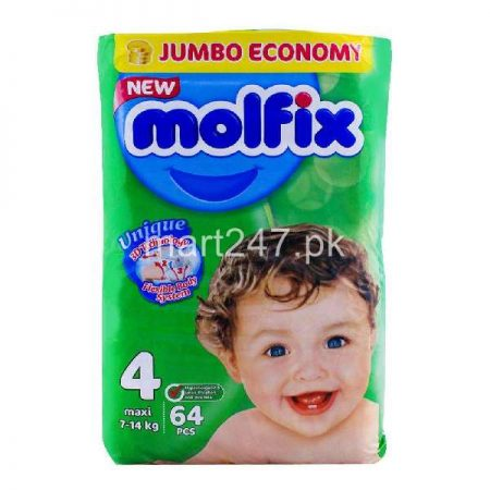 Molfix Baby Diaperss Maxi Size 4 64 Pcs