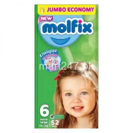 Molfix Baby Diaperss Extra Large Size 6 52 Pcs