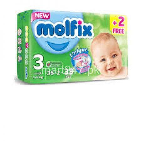 Molfix Baby Diaperss Midi Size 3 36 Pcs