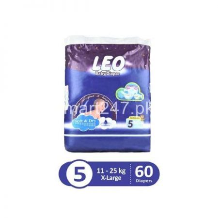 Leo Baby Diaperss Soft & Dry Size 5 (60)Pcs