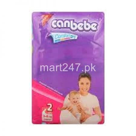 Canbebe Baby Diaperss 3 to 6 KG Size 2 Small (40 Pcs)