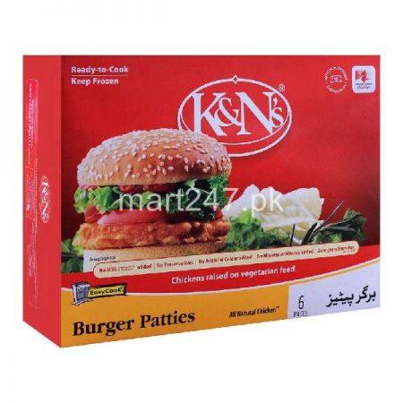 K&Ns Burger Patties 6 Pieces 370 G