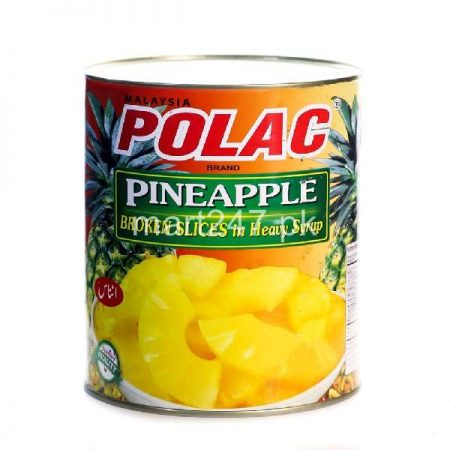 Polac tin fruits frozen pineapple slices 565 G