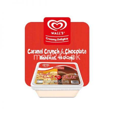 Walls Creamy Delights 2 in 1 Caramel Crunch & Chocolate