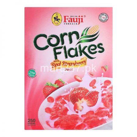 Fauji Corn Flakes Real Strawberry 250 Grams