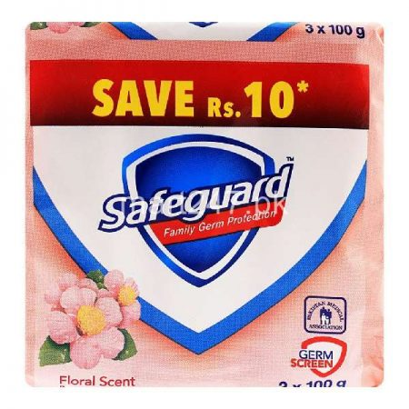 Safeguard Floral Scent Soap Family Pack 3 x 100 G