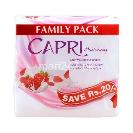 Capri Strawberry Softner White Soap 100 G X 3 Packs