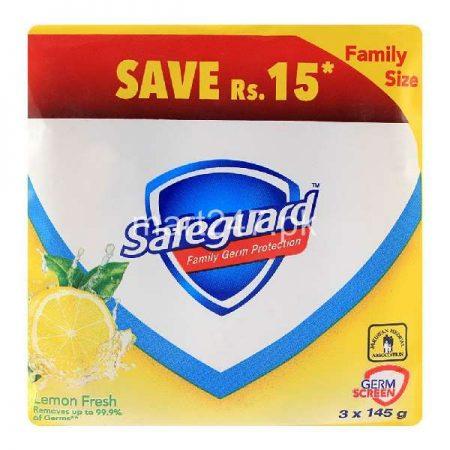 Safeguard Lemon Fresh 145 G X 3