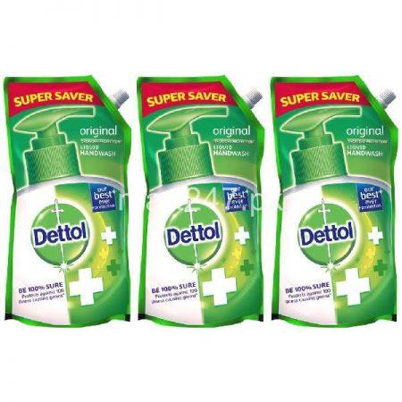 Bundle of 3 Dettol Liquid Handwash Pouches Original