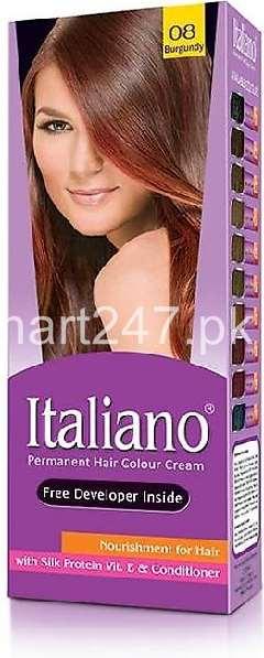 Italiano Hair Colour Burgundy Shade # 08