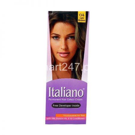 Italiano Hair Colour Light Brown Shade # 04