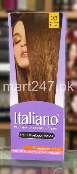 Italiano Hair Colour Medium Brown Shade No 03