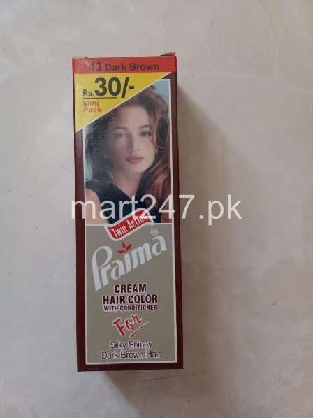 Praima Cream Hair Color Dark Brown 43 45 G