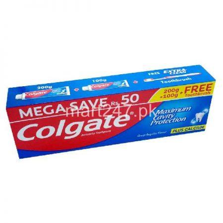 Colgate Maximum Cavity Protection Toothpaste 200 Plus 100 G Mega Saver Pack