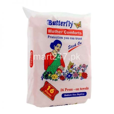 Butterfly Mother Comfort Medium 16 Pcs