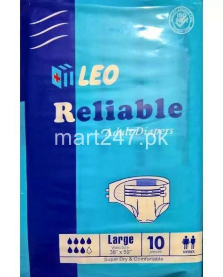 Leo Reliable Adult Diapers Size Extra Large (10 Pcs)