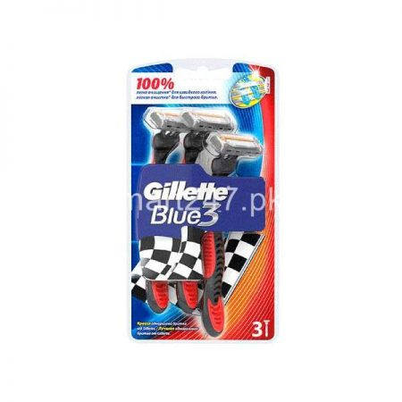 Gillette Blue 3 Red 3 Pieces