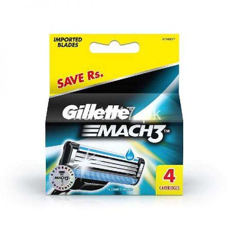 Gillette Mach 3 4 Pcs