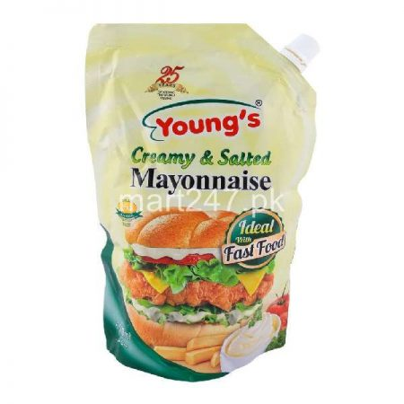 Youngs Creamy & Salted Mayonnaise 1 Ltr
