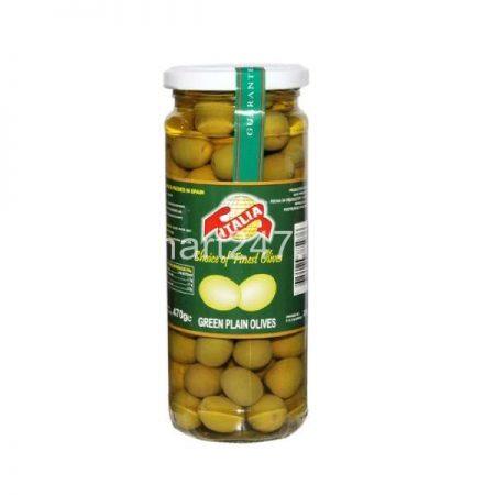 Italia Green Plain Olives 230 G