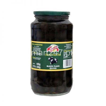 Italia Black Plain Olives 450 G