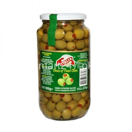 Italia Green Stuffed Olives With Pimient Paste 450 G