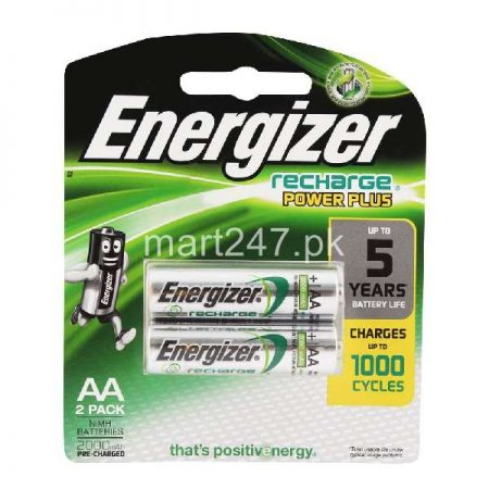 Energizer AA Recharge Battery (Green) (2 Pack)
