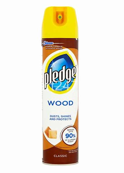 Pledge Wood Dusts Shines And Protects Spring Time Polish 250 Ml