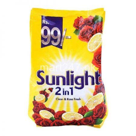 Sunlight 2 In 1 Clean & Rose Fresh Washing Powder 850 GM