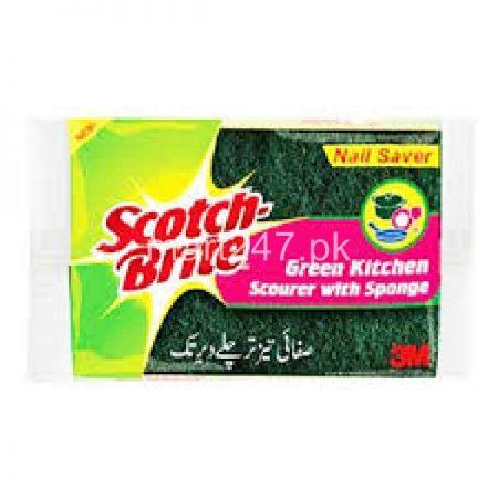 Scotch Brite Green Kitchen Sponge Nail Saver (3 in 1)