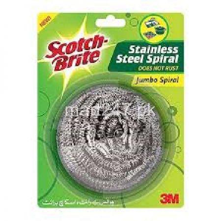 Scotch Brite Stainless Steel Spiral Scrubber 1 Pc