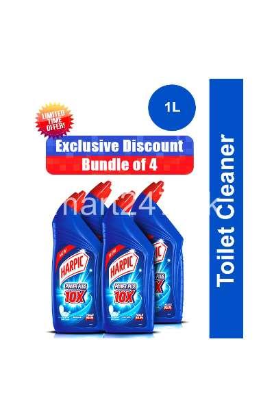 Pack of 4 Harpic Toilet Cleaner 1l Original