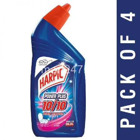 Pack of 4 Harpic Toilet Cleaner 1l Rose