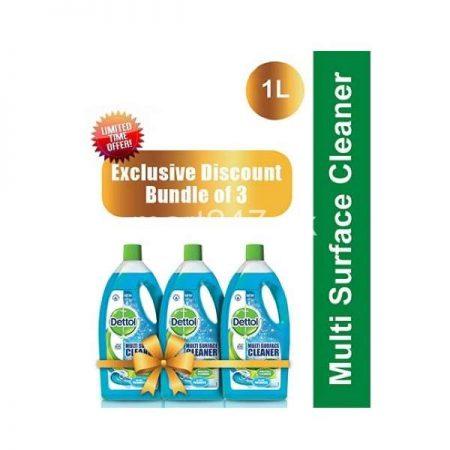 Bundle of 3 Dettol Multi Surface Cleaner Aqua 1 L
