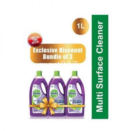 Bundle of 3 Dettol Multi Surface Cleaner Lavender 1 L
