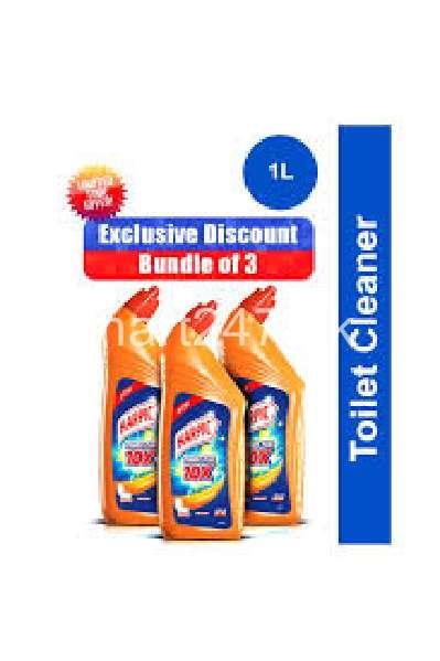 Bundle Of 3 Harpic Orange Toilet Cleaner 1L