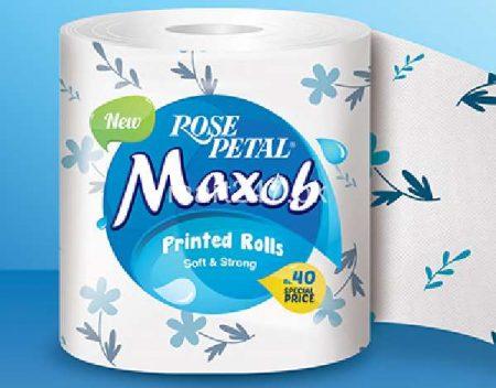 Rose Petal Maxob Printed Roll Soft & Strong