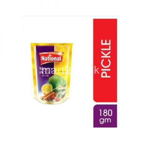 National Mix Pickle In Oil 180 G Pouch