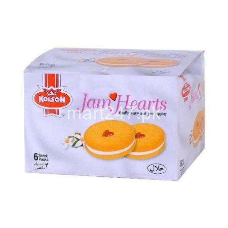 Kolson Jam Hearts Vanilla Cream With Jam 6 Half Ro